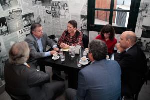 El debate tuvo lugar en la cafetería Casa del Guarda. / Foto: José Carlos Palma