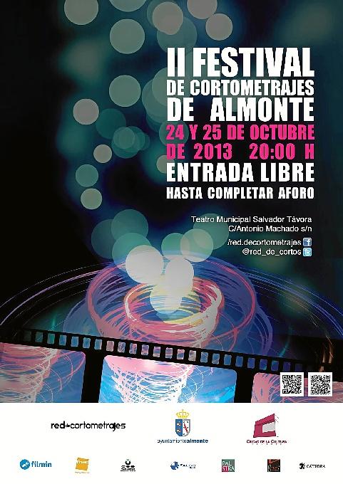 Cartel anunciador del festival de cortometrajes.