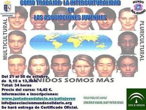Cartel del curso intercultural que se celebra en Almonte.