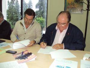 Firma del convenio de colaboración.