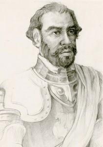 Imagen de Gonzalo Guerrero como soldado español.