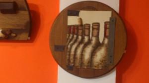 Una muestra de pintura con vino ha sido la protagonista de la jornada inaugural.