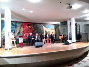 Una de las actuaciones del homenaje de la Peña.