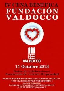 Cartel de la cena benéfica de Valdocco.