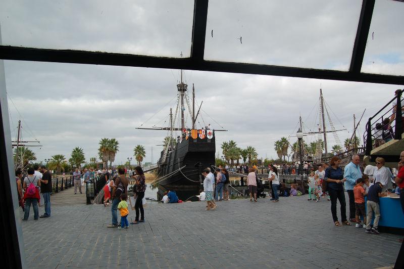 El Muelle de las Carabelas, este sábado 12 de octubre.