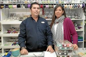 María Rodríguez y Miguel Borrallo, propietarios de La Casa de las Cuentas.