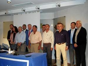 Representantes de las cooperativas que se han unido para poner en marcha la comercializadora.