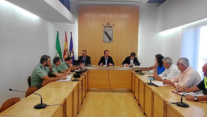 Reunión de la junta de seguridad de Gibraleón.