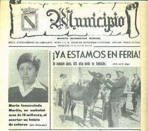 La revista olontense 'Municipio' dedicó un artículo en los ochenta a los orígenes de esta Feria. El caràcter ganadero de la fiesta era evidente como se puede comprobar en la foto de portada de la gaceta.
