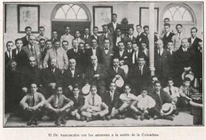 Vasconcelos, en una sesión de la Colombina.