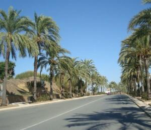 Antigua Avenida de las Naciones, en Palos de la Frontera.