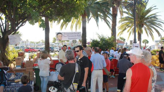 Éxito de la recogida de alimentos del Economato 'San Vicente de Paúl' en Ayamonte