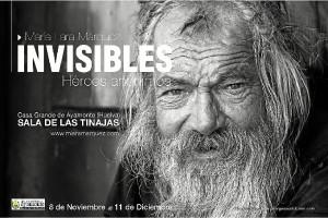 Invitación para la inauguración de 'Invisibles'.