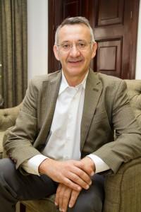 Juan Antonio García, alcalde de Bonares y presidente de la Mancomunidad del Condado.