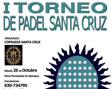 La Cofradía de la Santa Cruz organiza un torneo de pádel el próximo 26 de octubre en Aljaraque
