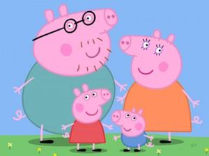 La familia de Peppa Pig.
