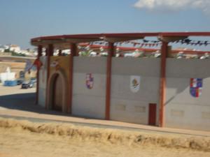 La Plaza de Toros de Palos, preparada para acoger la 'Pinzoniana'.