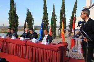 Acto de constitución de la Eurociudad del Guadiana, que se llevó a cabo en el municipio de Castro Marim.