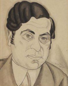 Retrato de Ramón Gómez de la Serna, obra del pintor onubense Vázquez Díaz.