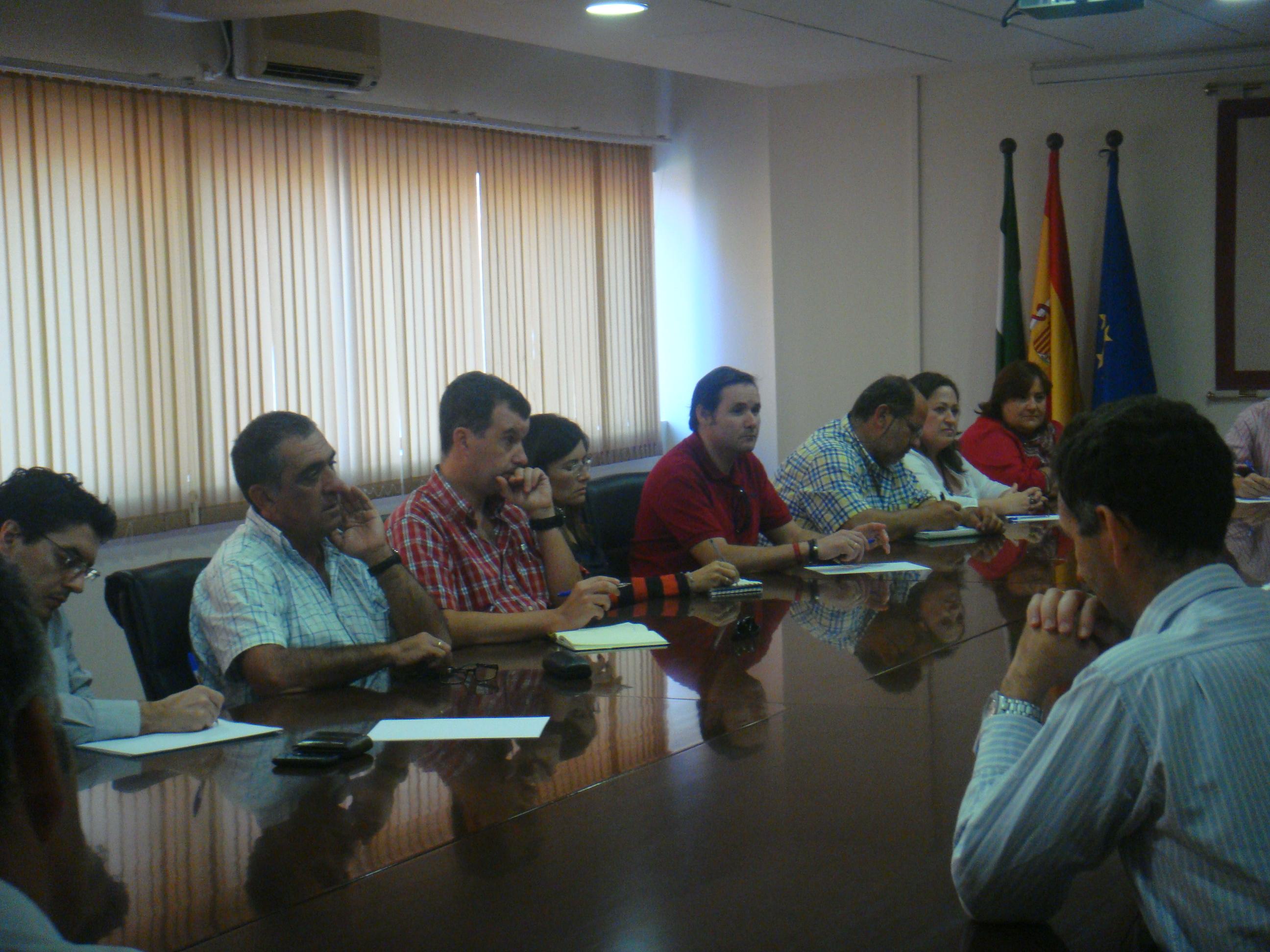 Representantes del CSIF durante la reunión con el rector.