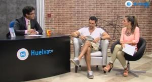 Javier Mora también pasó por el plató de Huelva TV.