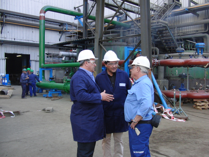 Eduardo Muñoz visitó Atlantic Copper.