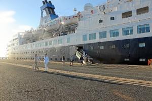 Llegada del crucero al Puerto de Huelva.