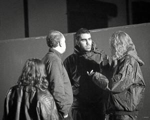 El joven cineasta, en el rodaje de 'Hambre'.