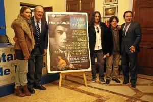 Varios de los cantante que actuarán en la gala estuvieron presentes en la presentación. / Foto: José Carlos Palma