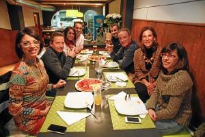 Los compañeros de Huelva Buenas Noticias, estuvieron presentes.