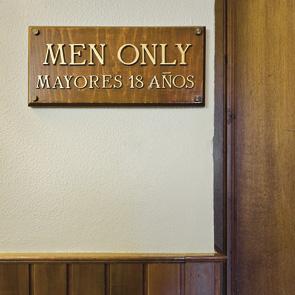 'Men only'.