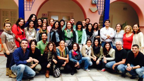 Encuentro de los voluntarios internacionales en Huelva