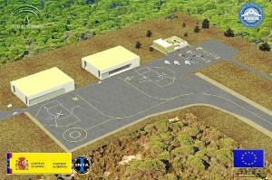 Las instalaciones constarán de dos hangares y un edificio de oficinas. / Fuente: INTA