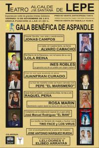 Cartel de la gala benéfica que se celebrará el 15 de noviembre.