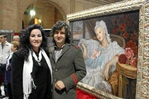 La artista, con Morante de la Puebla.
