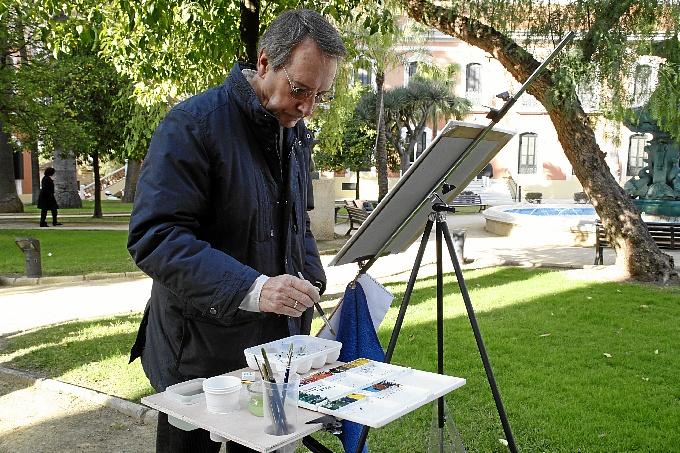 Los artistas muestran su pasión.
