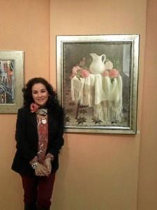 La artista, en otra de sus exposiciones.