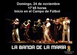 La Banda de María amenizará la tarde del domingo.