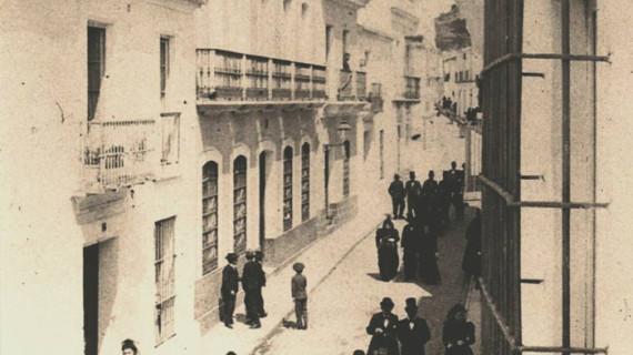 Calle La Fuente de Huelva capital en la última década del siglo XIX