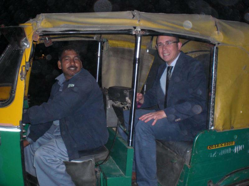 Guillermo, en la India.