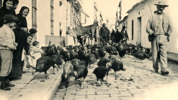 Calle Rico, entonces Castelar, en la primera década del siglo XX