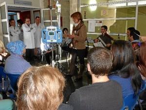 Concierto de música de cámara de la Orquesta Clásica del Sur de Portugal, en el hospital.