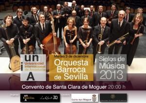 La Orquesta Barroca de Sevilla actuará el 3 de diciembre en Moguer.