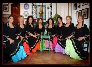 Imagen del cuadro de la Peña Flamenca Femenina de Huelva.