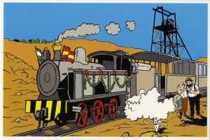 Tintín ha viajado por todo el mundo, incluida Huelva. En este caso, en la Cuenca Minera.
