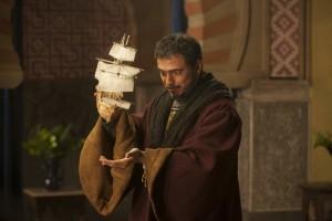 Cristóbal Colón, en una escena de la serie Isabel.