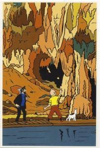 Sus aventuras han sido traducidas a 60 idiomas. En la Gruta de las Maravillas.