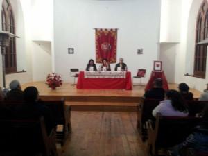 La autora leyó unos poemas de su nuevo libro. / Foto: Rocío Díaz.