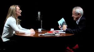 Nuria del Saz, durante la entrevista con Diego Lopa.