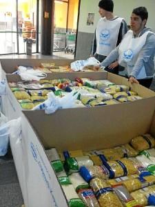 Alimentos recogidos en Ayamonte.